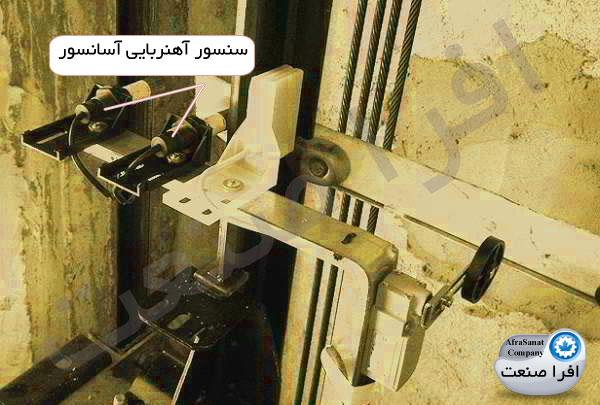 سنسور آهنربایی نصب شده روی کابین آسانسور افرا صنعت
